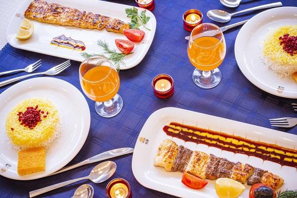 منو غذای هتل کیانا مشهد