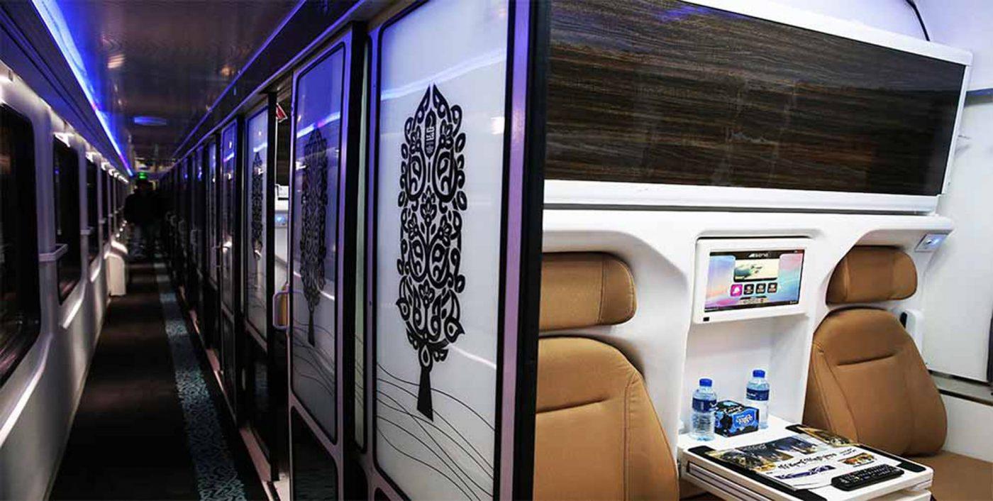نمای داخلی قطار فدک