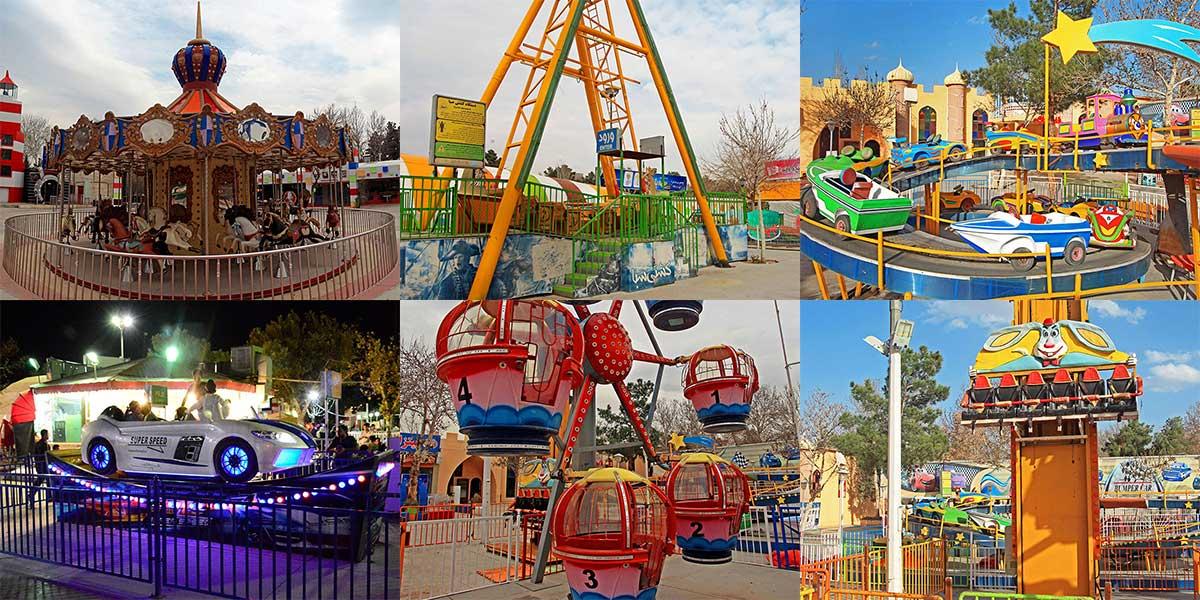 تفریحات مخصوص گروه سنی کودکان در شهربازی پارک ملت مشهد