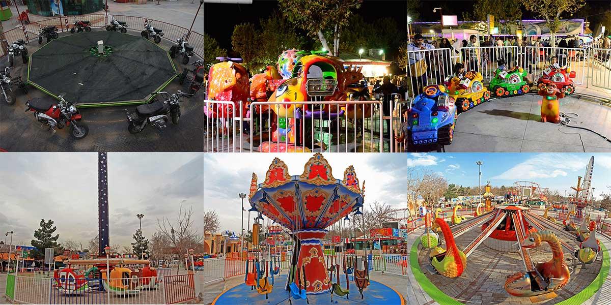 وسائل بازی کودکان در شهربازی پارک ملت مشهد
