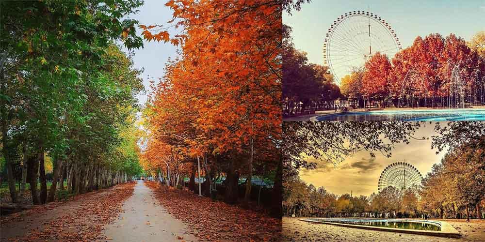 منظره پاییز پارک ملت مشهد