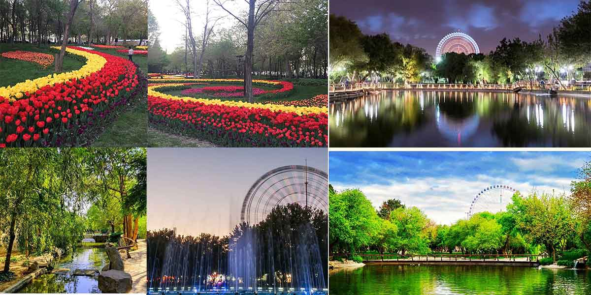 منظره بهار پارک ملت مشهد